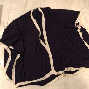 Ralph Lauren sweater shawl. Dark blue. EUC!